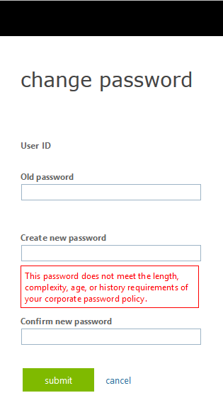 password reset OWA step 9