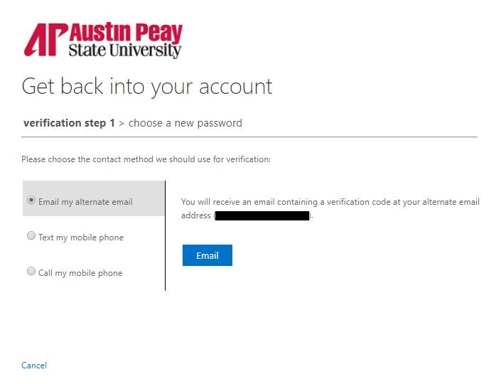 azure password reset step 5