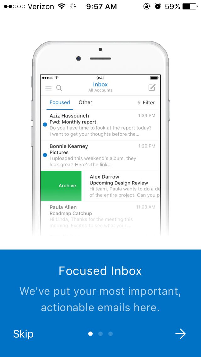 student email outlook app step 6
