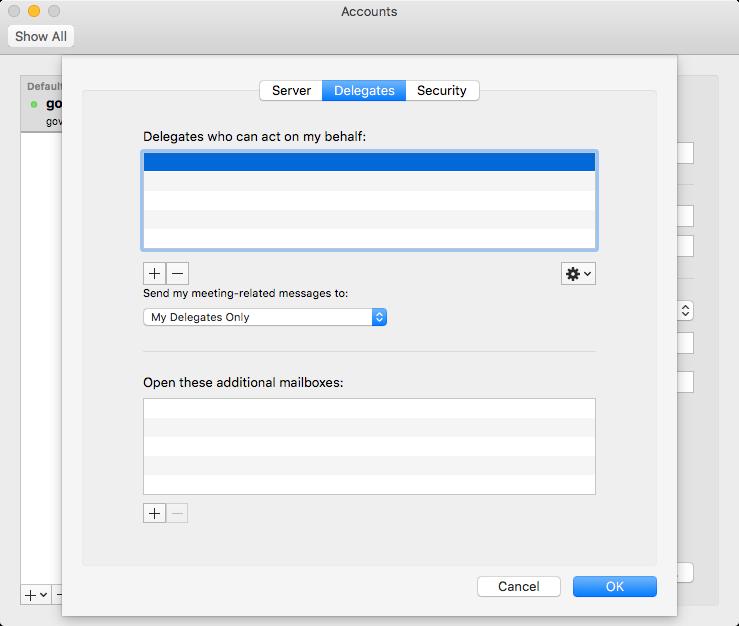 delegate access mac step 8