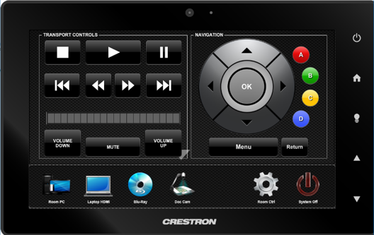 crestron input bluray