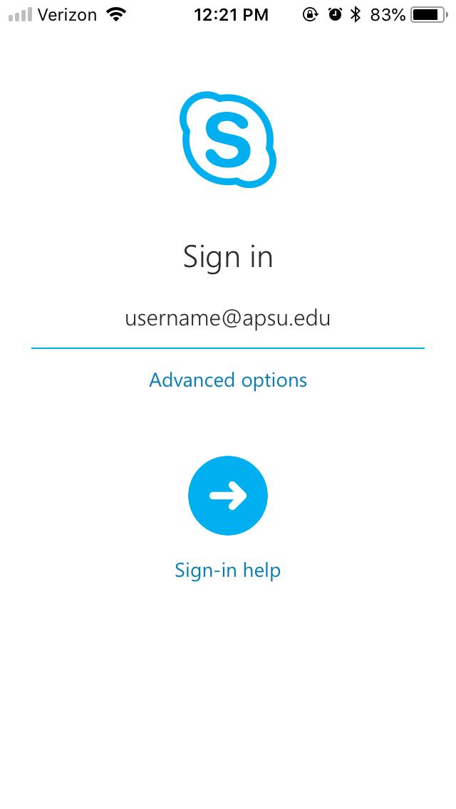 skype app step 2