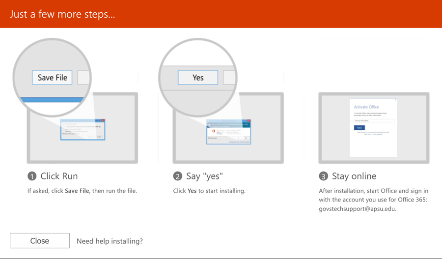 office 365 student step 6