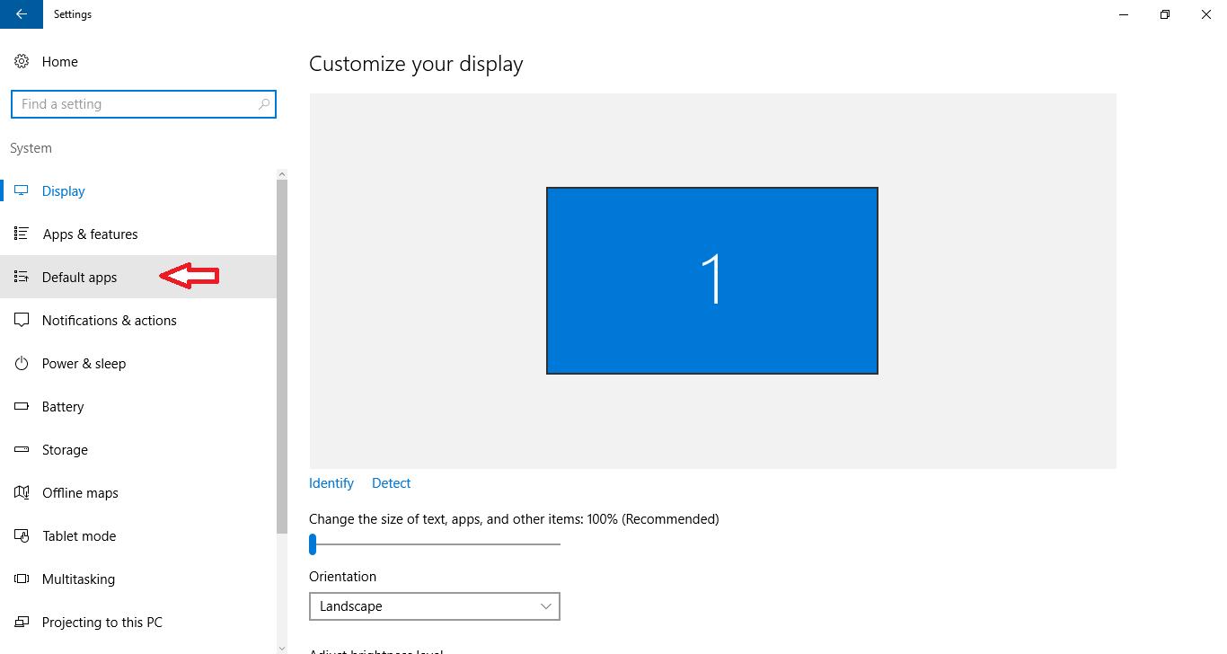 default browser windows 10 step 3