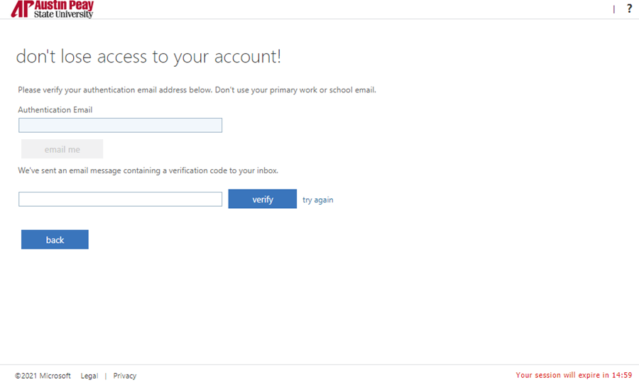 azure password manager enroll step 8