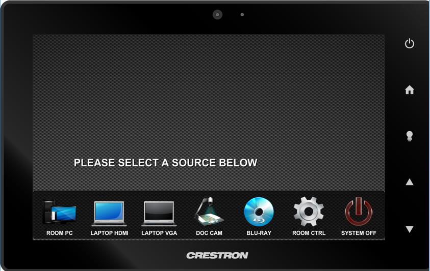 crestron select a source