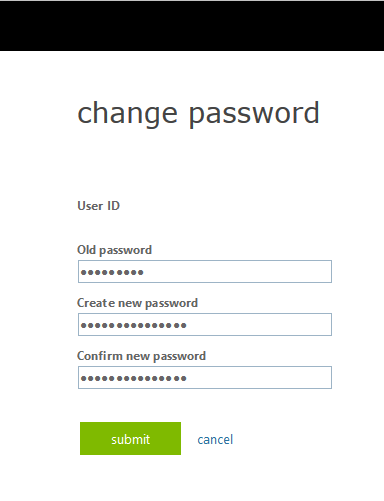 password reset OWA step 7