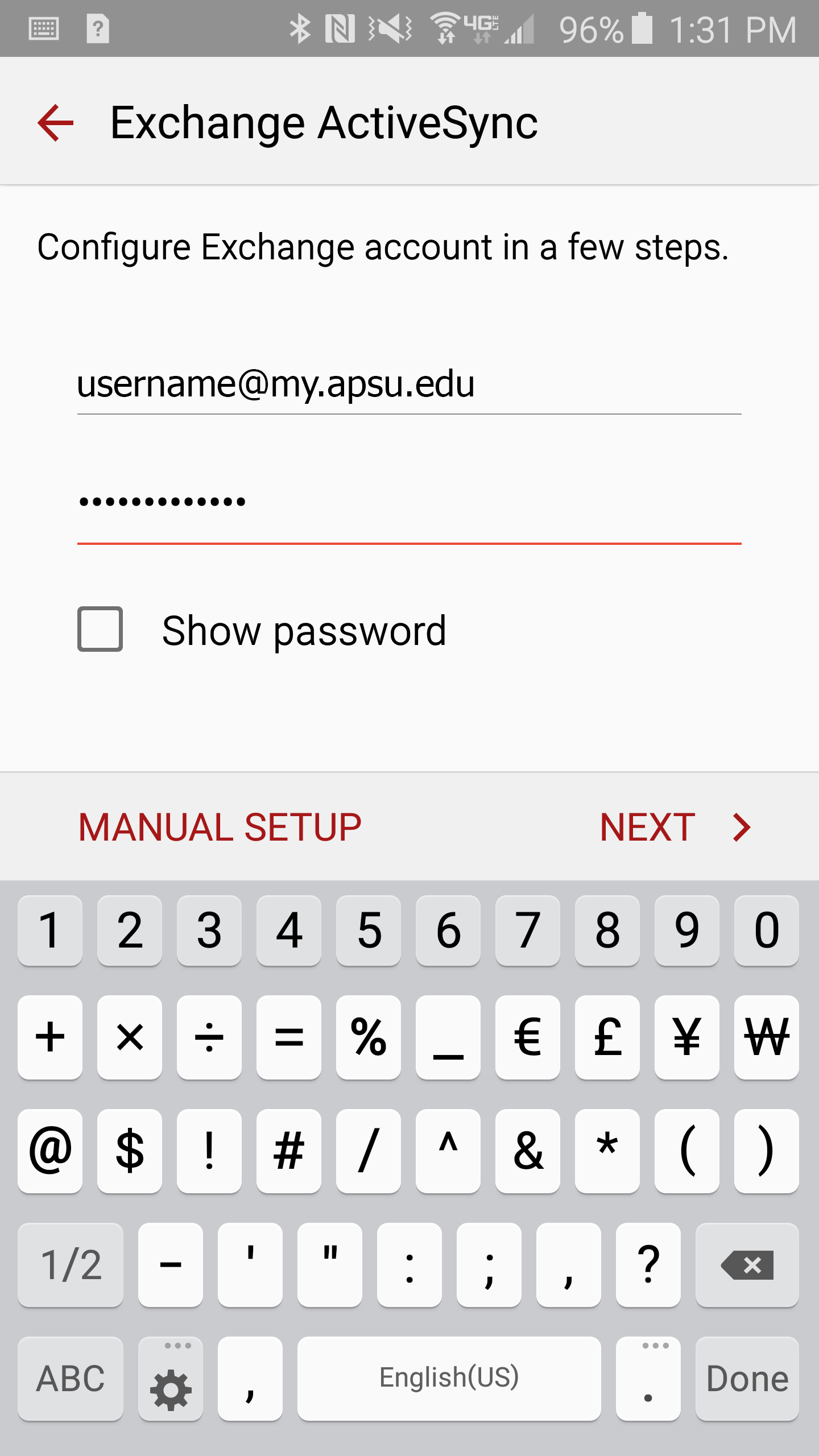 student email android step 5