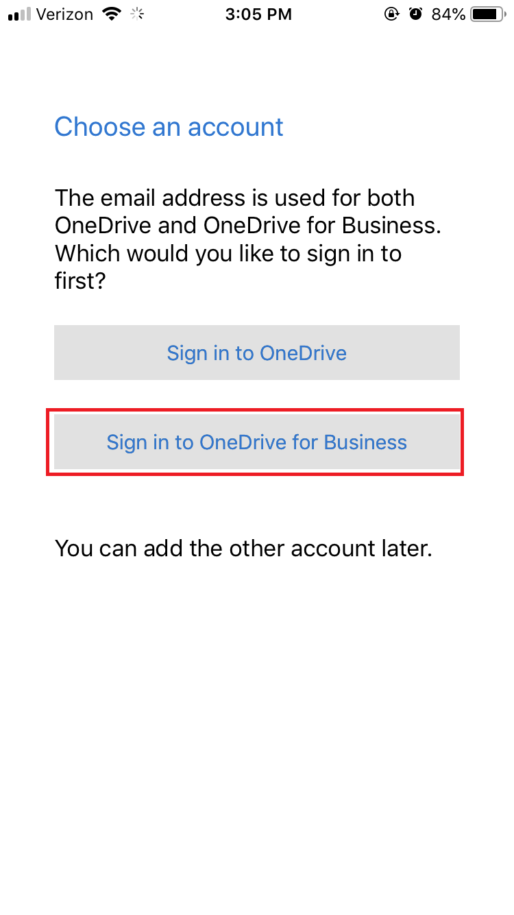 onedrive app step 2