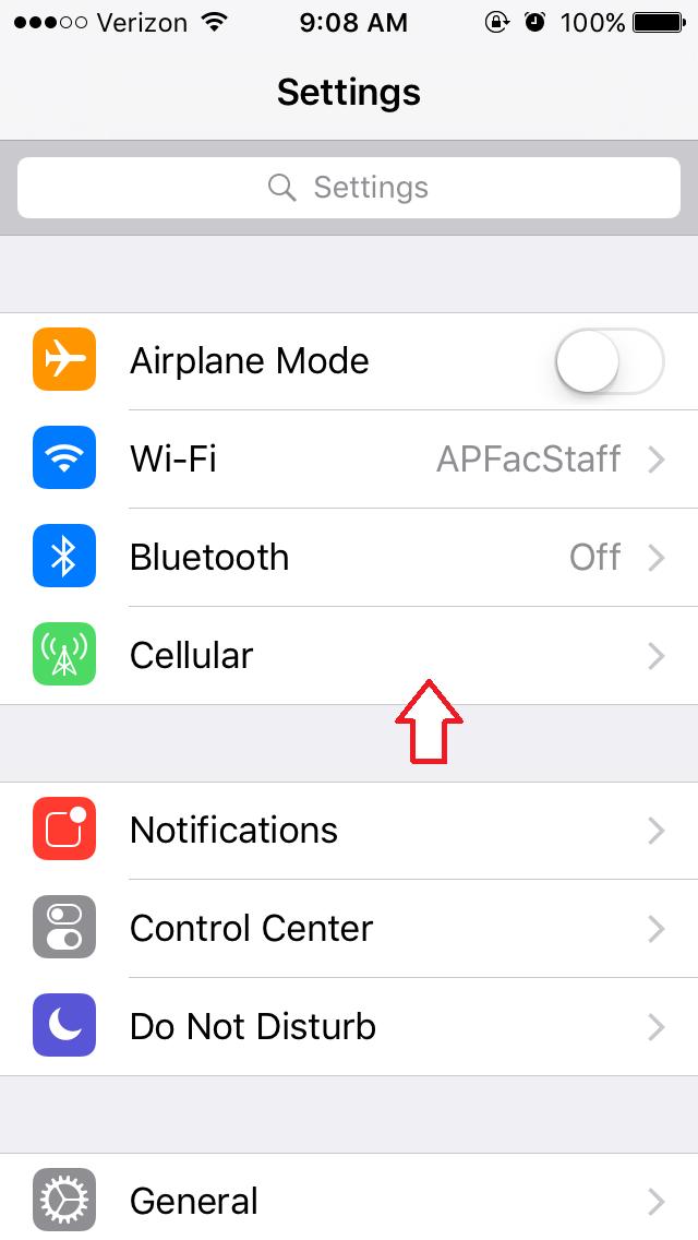 restrict data usage iphone step 1