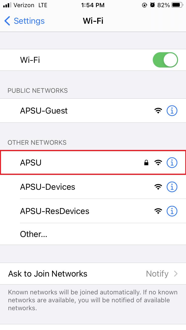 APSU wireless iOS step 3