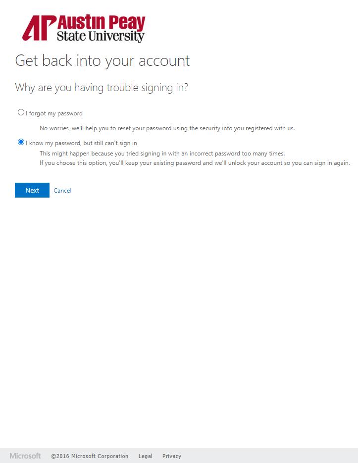azure password manager unlock step 3