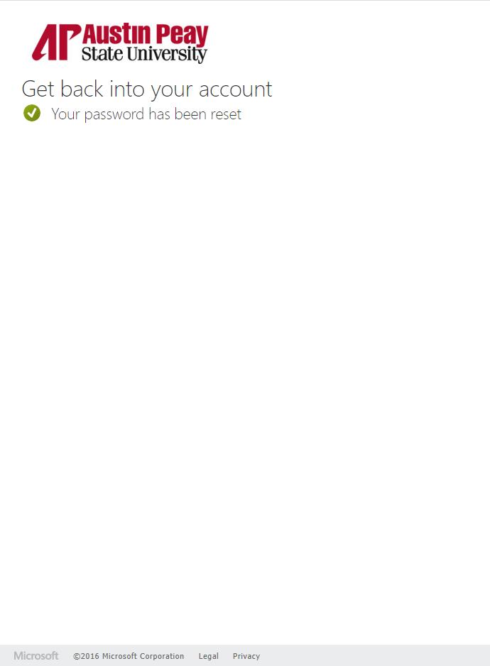 azure password reset step 9