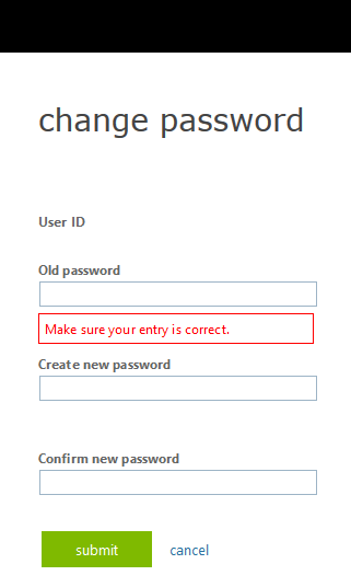 password reset OWA step 8