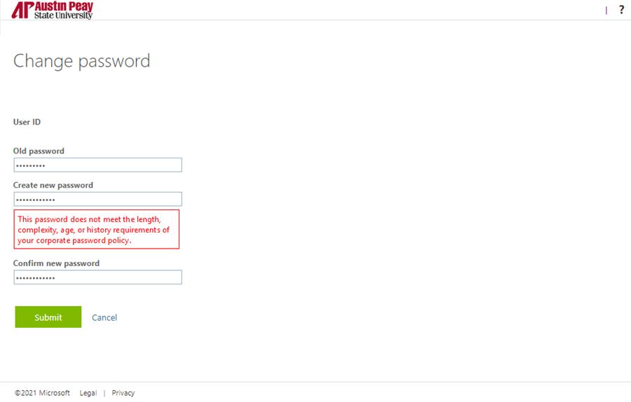 password reset OWA step 6