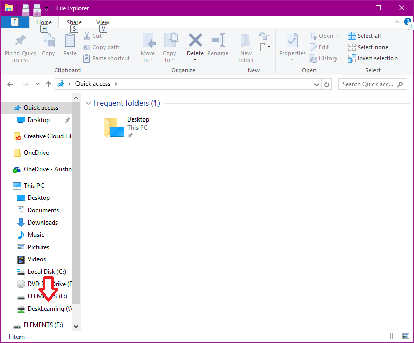 share drive windows 10 step 6