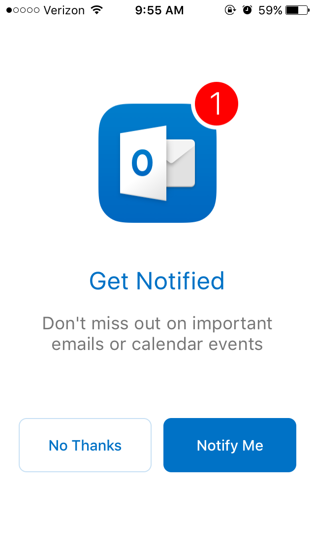 student email outlook app step 2