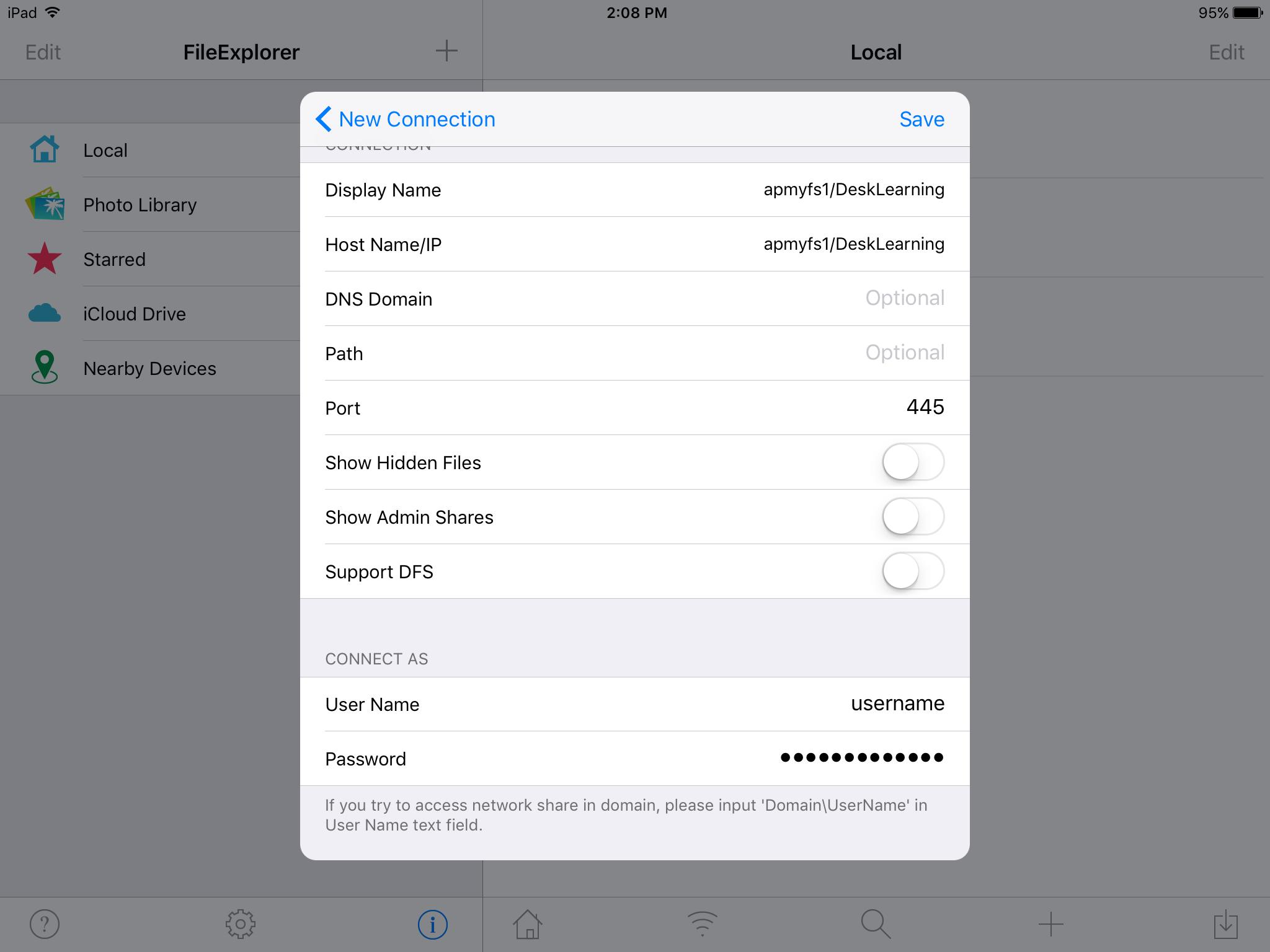 share drives ipad step 5