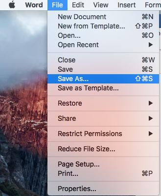 convert word to pdf on mac step 1