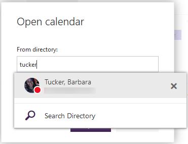 opening shared calendars owa step 4