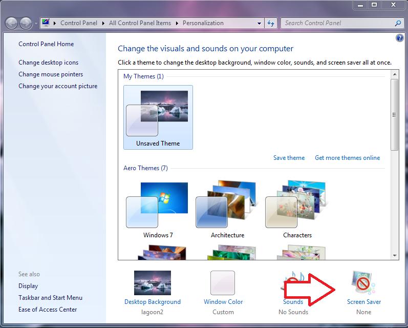 screen saver pc step 3