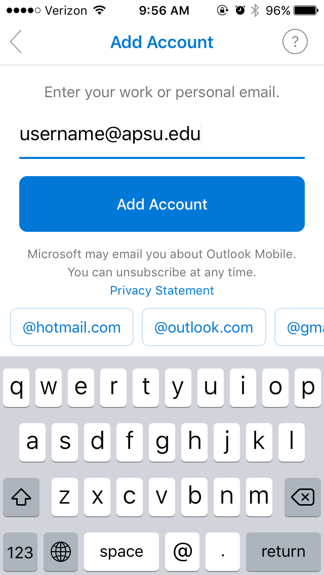 faculty email windows app step 3
