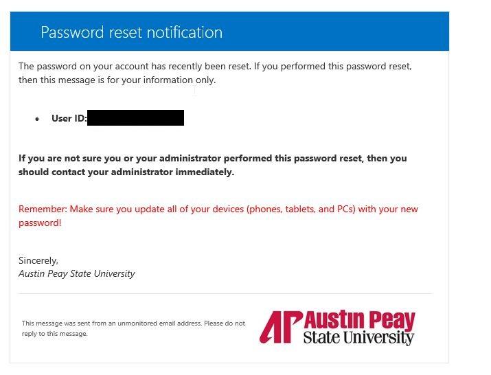 azure password reset step 10
