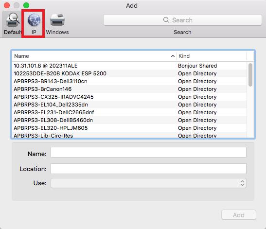 network printers mac step 4