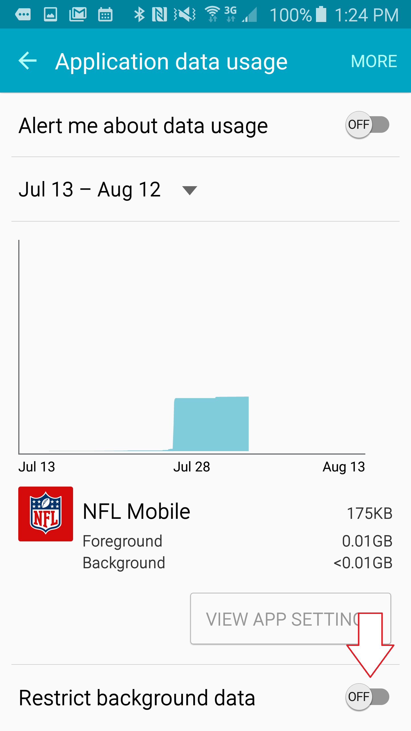 restrict data usage android step 4