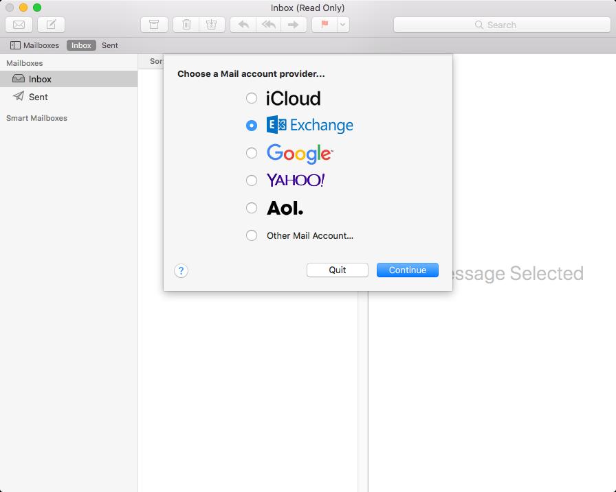 mac outlook default step 1