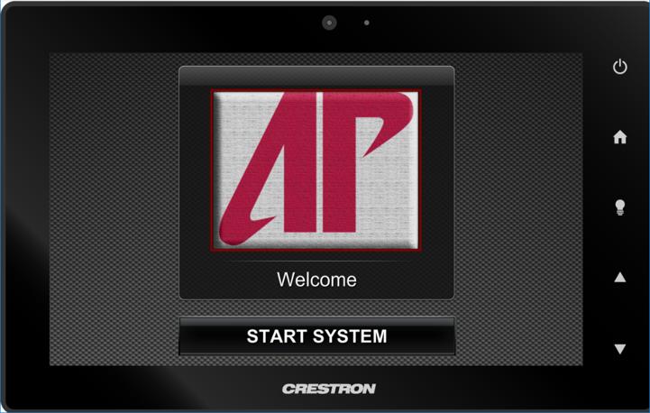 crestron start page