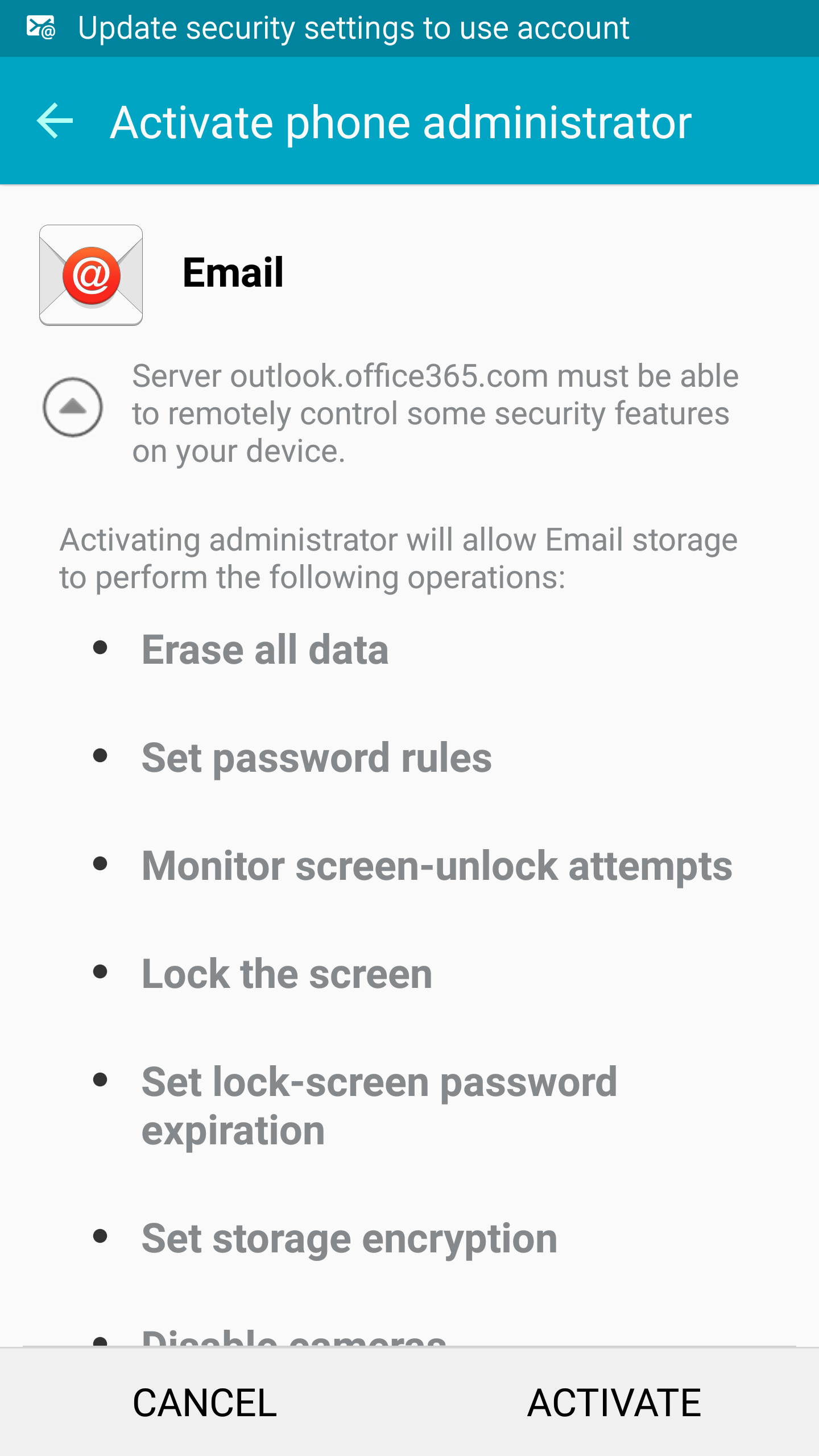 faculty/staff email android step 10
