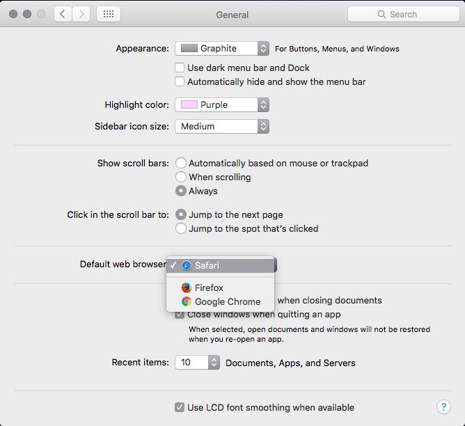 default browser mac step 2