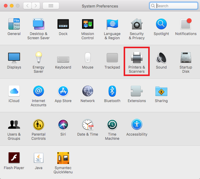 network printers mac step 2