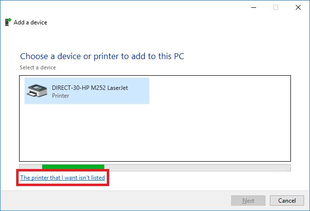 network printer windows 10 step 5