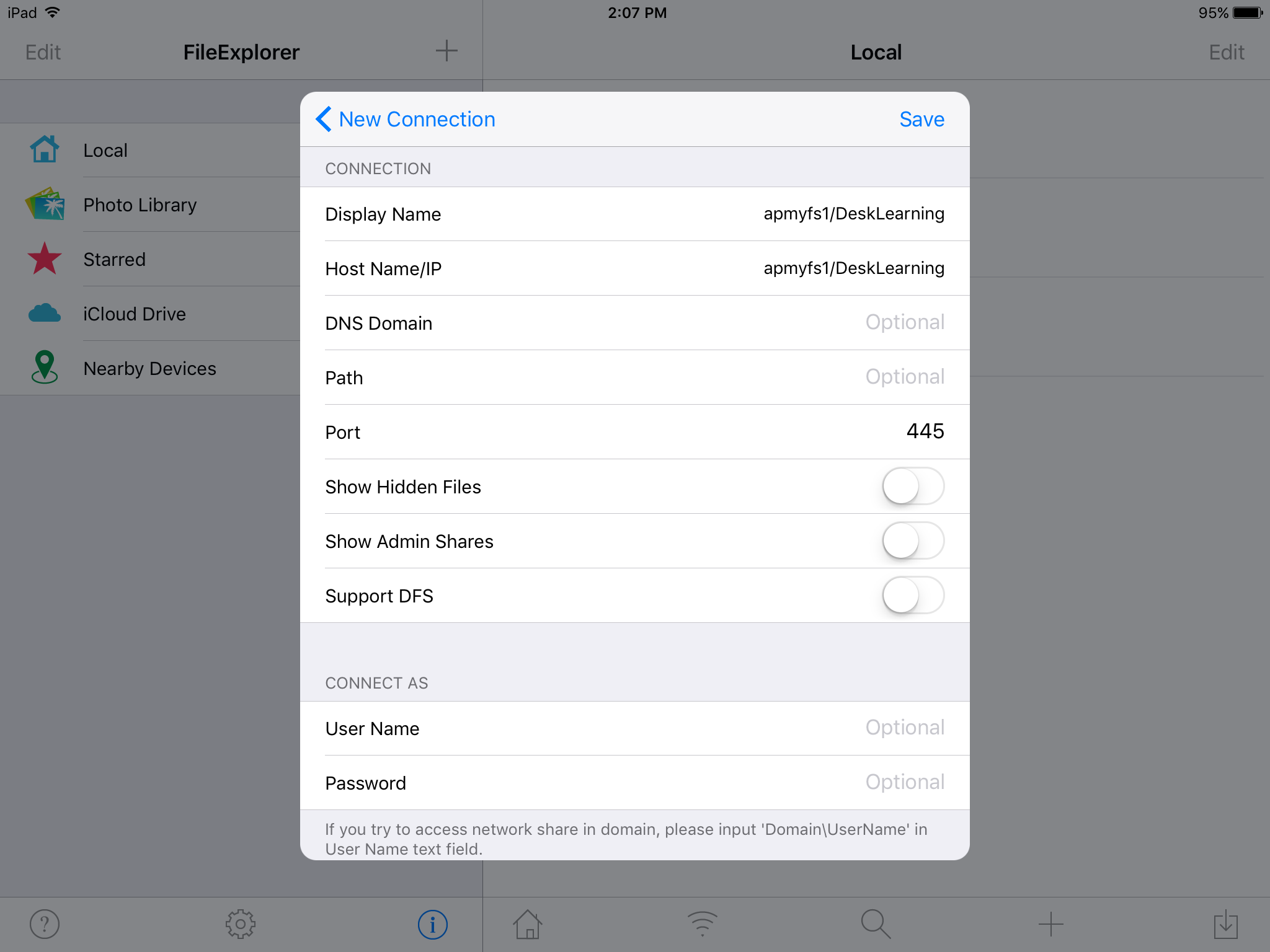 share drives ipad step 4