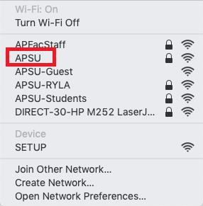 APSU network mac step 2