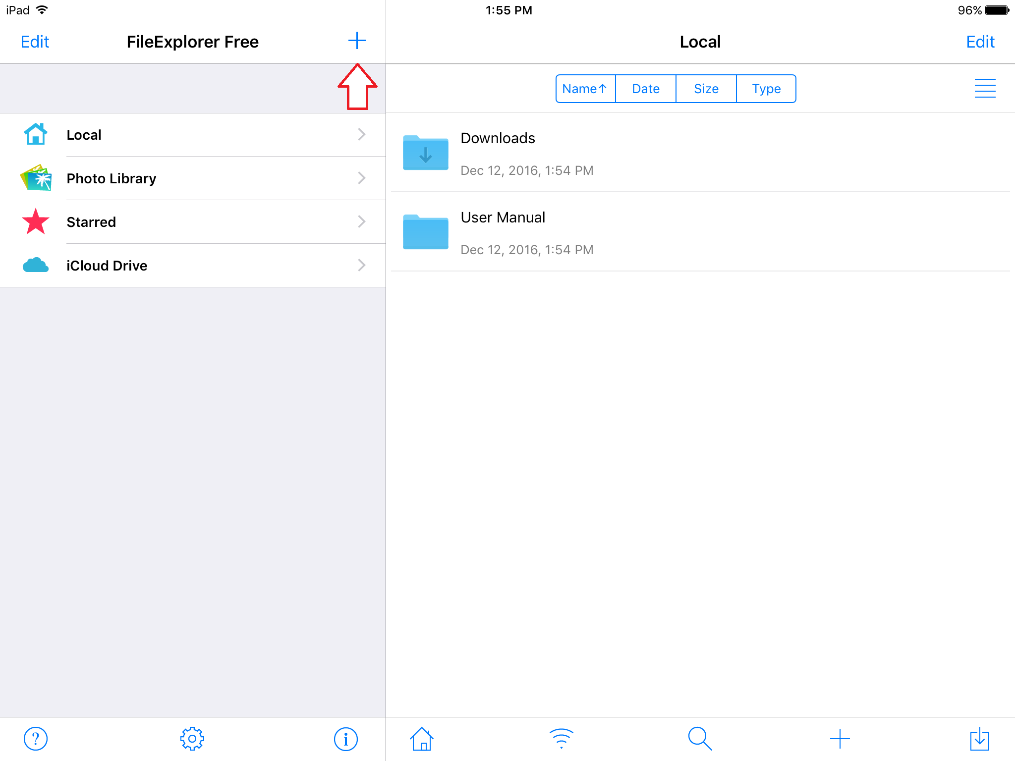 share drives ipad step 2