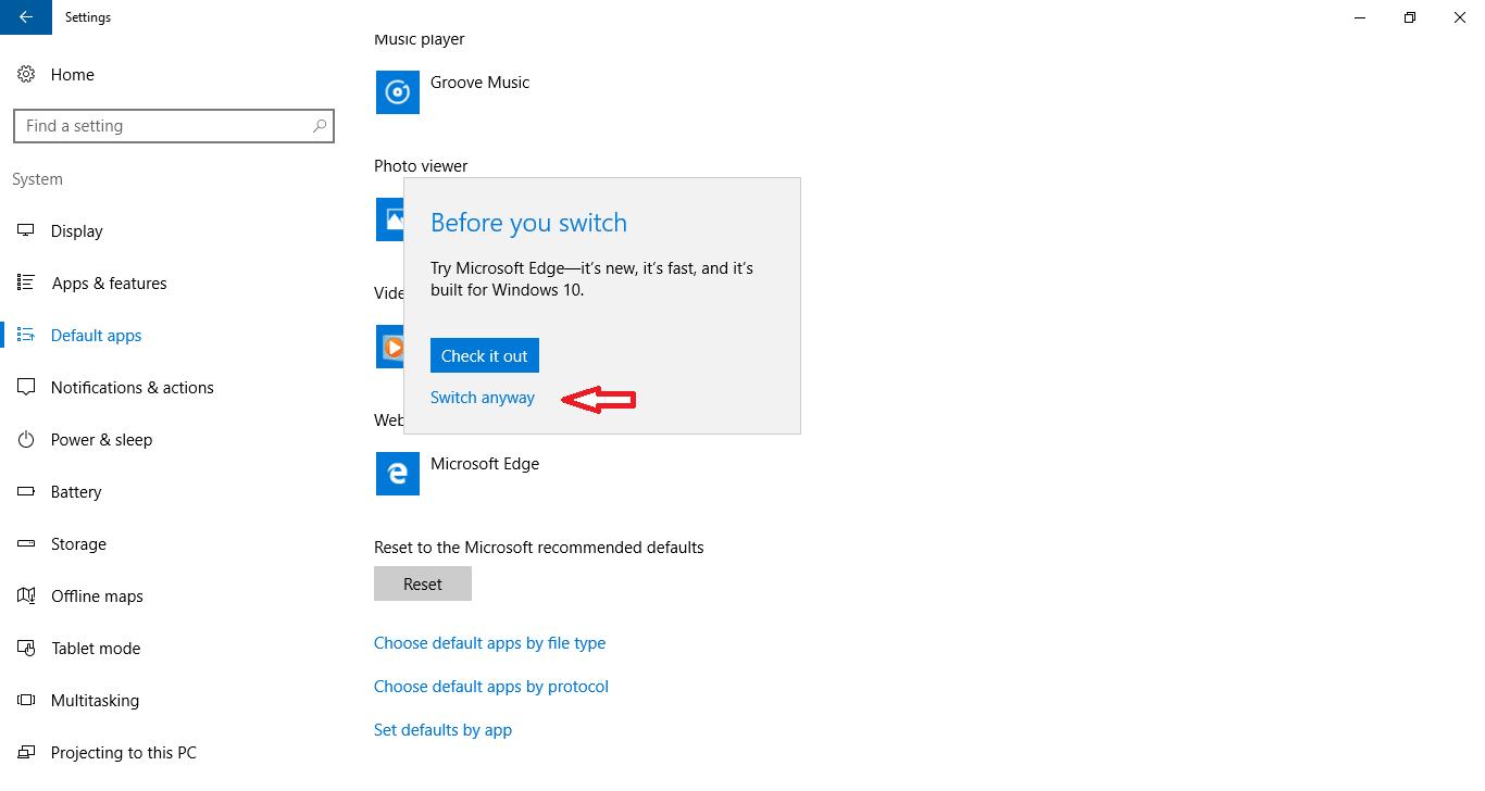 default browser windows 10 step 5