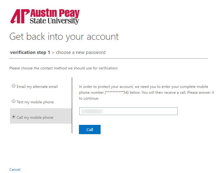azure password reset step 16