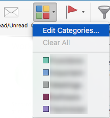 outlook categories mac step 1