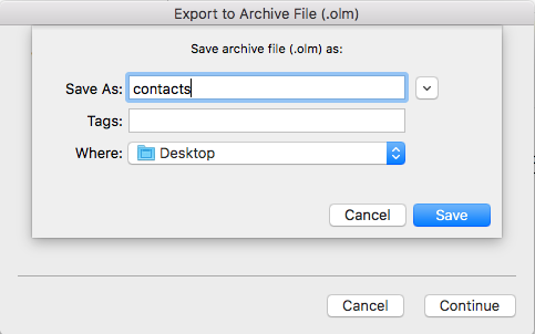 contacts backup mac step 3