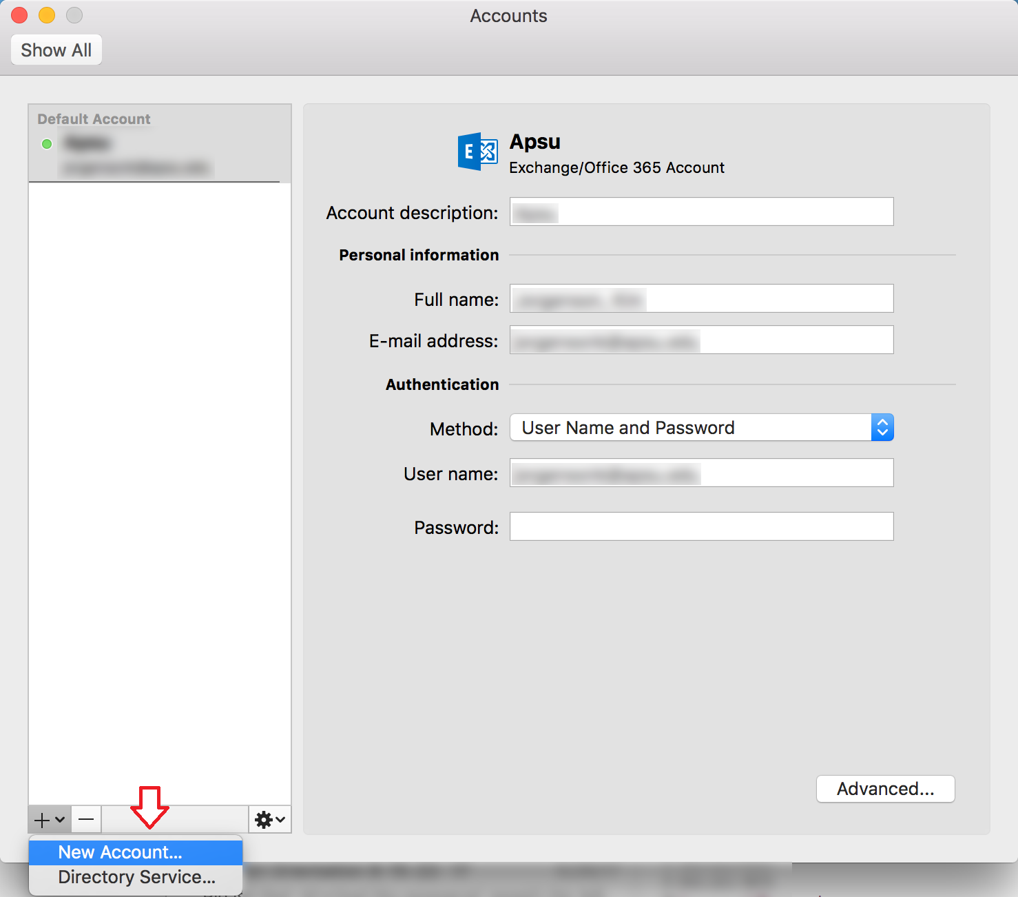 outlook additional accounts mac step 3