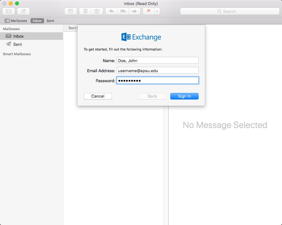 mac outlook default step 2
