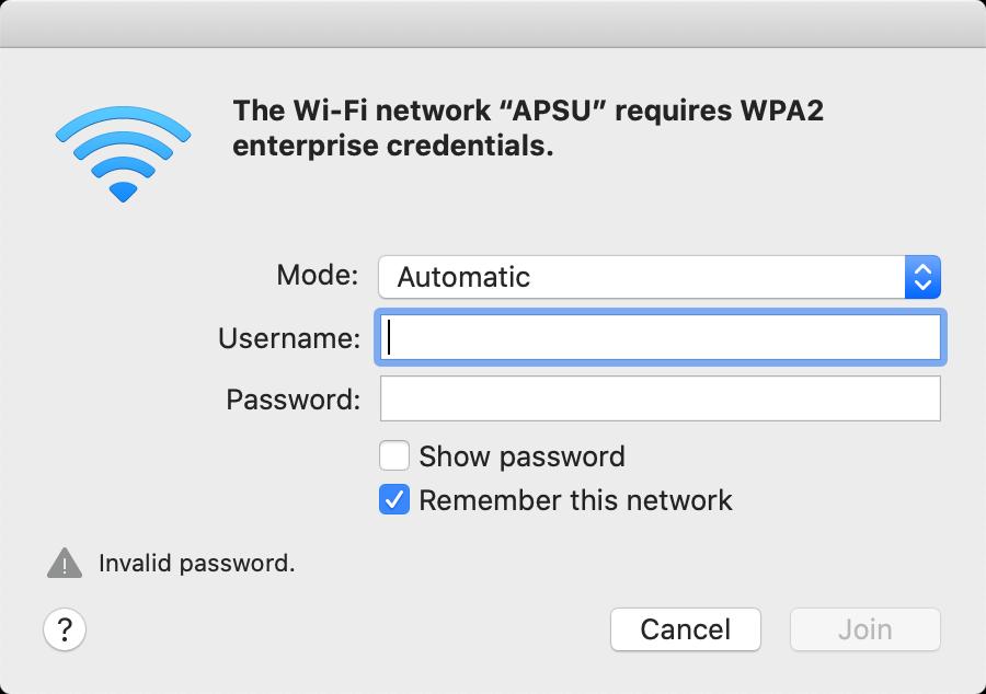 APSU network mac step 3