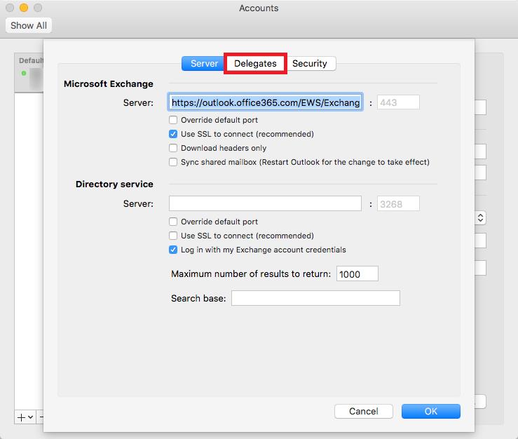 delegate access mac step 4