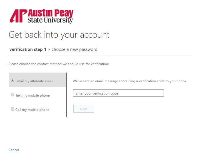 azure password reset step 7