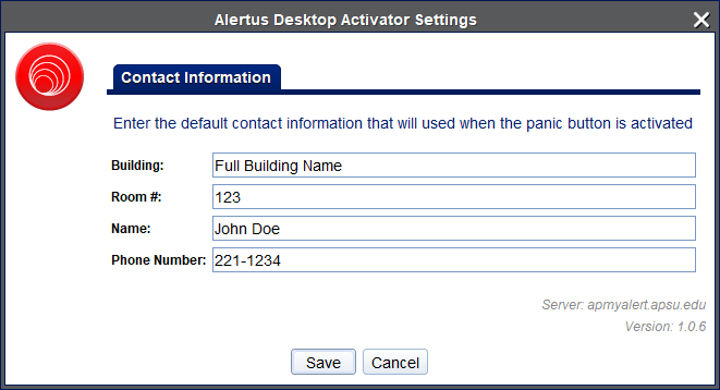 alertus pc step 3