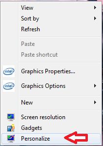 screen saver pc step 2