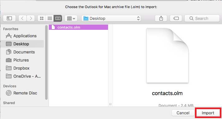 contacts backup mac step 7
